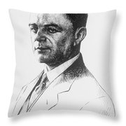 Kazimierz Funk, Polish-american Throw Pillow by Science Source