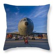 Kc-10 At Sunset Throw Pillow