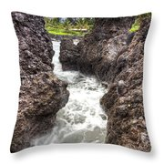 Keanae Peninsula Paradise Maui Throw Pillow