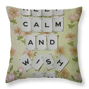 Keep Calm And Wish On Throw Pillow