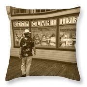 Keeping Clam Since 1938 Throw Pillow
