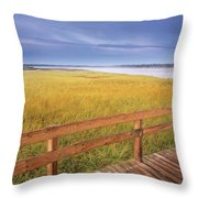 Kellys Beach Boardwalk, Kouchibouguac Throw Pillow