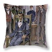 Kemmler Execution Throw Pillow