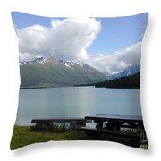 Kenai Lake Throw Pillow