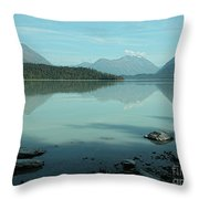 Kenai Lake Reflections Throw Pillow