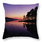 Kenmare Bay, Co Kerry, Ireland Sunset Throw Pillow