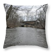 Kennedy Bridge Over French Creek Throw Pillow
