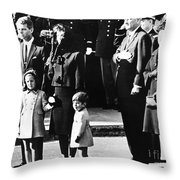 Kennedy Funeral, 1963 Throw Pillow