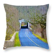Kennedy's Bridge Over French Creek Throw Pillow