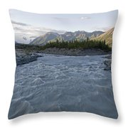 Kennicott River And The Wrangell Throw Pillow