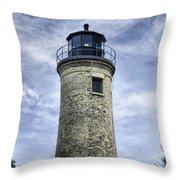 Kenosha Southport Lighthouse Throw Pillow
