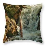 Kent Falls Redux Throw Pillow