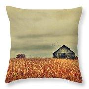 Kentucky Corn Field Throw Pillow
