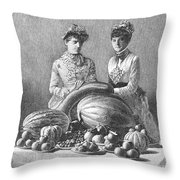 Kentucky: Fair, C1889 Throw Pillow
