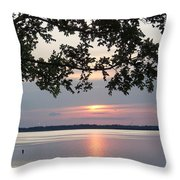Kentucky Lake At Sunsset Throw Pillow