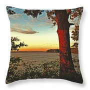 Kentucky Lake Sunrise Throw Pillow
