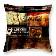 Kentucky Shed Ad Signs Throw Pillow