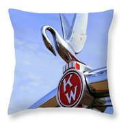 Kenworth Insignia And Swan Throw Pillow