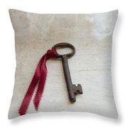 Key On Windowsill Throw Pillow