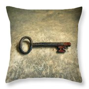 Key With Blood On It. Throw Pillow