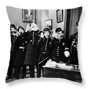 Keystone Cops Throw Pillow