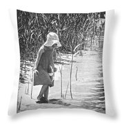 Khloe - Grayscale Throw Pillow