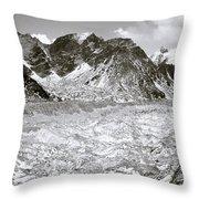 Khumbu Glacier Throw Pillow