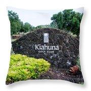 Kiahuna Golf Club Throw Pillow