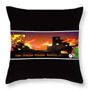 Kid Monsta And The England Riots Throw Pillow