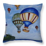 Kid's Art- Balloon Ride Throw Pillow