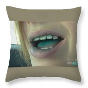 Kids With Candy Classic Throw Pillow