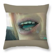 Kids With Candy Sugar High Throw Pillow