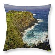 Kilauea Lighthouse Hawaii Throw Pillow