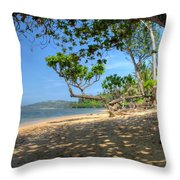 Kilauea View From Princeville Throw Pillow