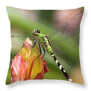 Killer In Green Throw Pillow
