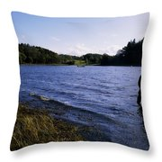 Killykeen Forest Park, Co Cavan Throw Pillow