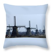Kinderdijk Windmills 2 Throw Pillow