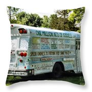 Kindness Bus 2 Throw Pillow