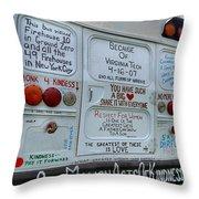Kindness Bus 3 Throw Pillow