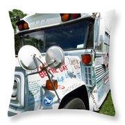 Kindness Bus 4 Throw Pillow