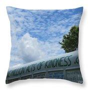 Kindness Bus 7 Throw Pillow