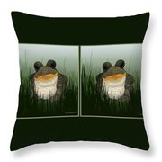 King Frog - Gently Cross Your Eyes And Focus On The Middle Image Throw Pillow