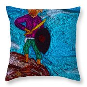 King Of America Throw Pillow