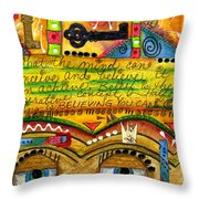 King Of Keys Throw Pillow
