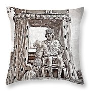 King Of Rex - Painted Bw Throw Pillow