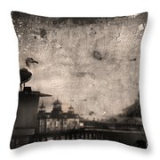King Of The Pier Throw Pillow