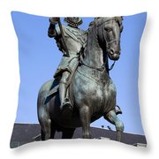 King Philip IIi Statue In Madrid Throw Pillow