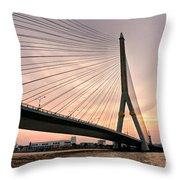 King Rama Bridge Bangkok Throw Pillow