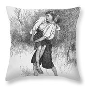 King Williams War, C1690 Throw Pillow