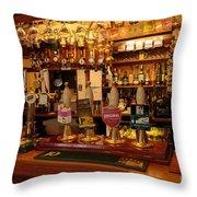 Kings Head Pub Kettlewell Throw Pillow